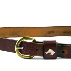 Accessories - Equestrian Royden Leather Bridle Belt Brass Buckle